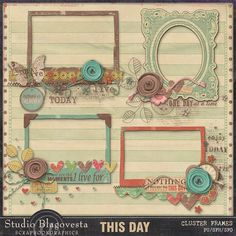 Scrapbookgraphics.com :: Elements :: Clusters :: THIS DAY: Cluster frames