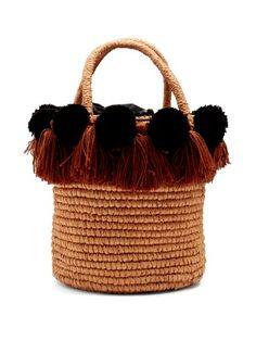 Pompom-embellished toquilla-straw basket bag | Sensi Studio | MATCHESFASHION.COM US