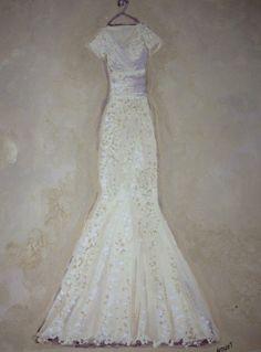 Painting Wedding Dress
