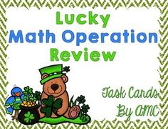 This St. Patrick Day Themed Freebie contains one set of 12 word problems involving math operations and one set of 24 mixed operation cards.I use task cards in a few  ways:As a large group activity. I place the task cards around the room and have students walk around in pairs with a clipboard and answering sheet.
