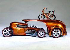 Plastic Model Kits, Plastic Models, Toddler Car Bed, Robert Williams, Custom Hot Wheels, Pinewood Derby, Unique Cars, Cardboard Crafts, Small Cars