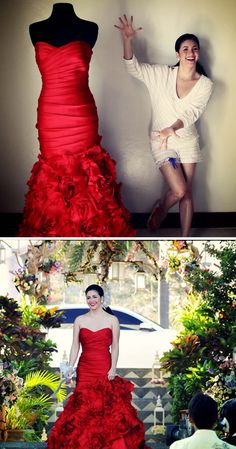 Would you have the nerve? Singer Regine Velasquez in her exquisite RED wedding gown. Red Wedding Gowns, Red And White Weddings, Luxury Wedding, Singer, Bird, Couple Photos, Formal Dresses, Couples, Fashion