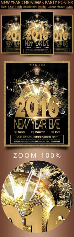 Chalk New Years Eve Party Flyer  Party Flyer Flyer Template And