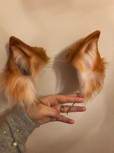 Wolf Ears And Tail, Fox Ears, Fox Costume, Neko Ears, Animal Costumes, Metal Headbands, Cosplay Diy, Animal Ears, Little Pets