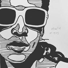 Daily Sketch 2/26/18 #1245 #dailysketch #illustration #people #portrait #sunshine