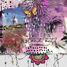 Why fit in. Watercolor, Gorgeous Design, Dreaming Of You, Art, Anime, Artsy, Life Sketch, Colours