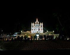 Midnight mass at Panjim Church, Goa