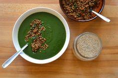 crema di spinaci, asparagi e patate con lenticchie speziate di Laura Failla
