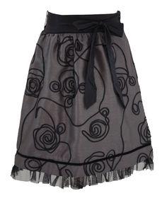 Grey Pearl Ribbon Skirt - Final Sale