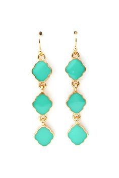 Cassie Dangle Earrings in Turquoise on Emma Stine Limited