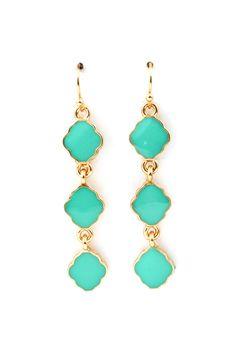 Cassie Dangle Earrings in Turquoise