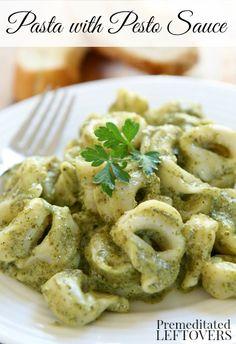 Pasta with homemade Pesto Sauce Recipe