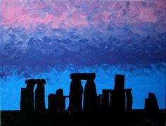 "Items similar to Stonehenge Painting AcRyLiC on Canvas British Landscape England Art x by ArtworkbyJeni - ""Dusk Entwines Stonehenge"" on Etsy Ancient Egyptian Art, Ancient Aliens, Ancient Greece, Prehistoric Age, Stone Age Art, Iron Age, Ancient Artifacts, Texture Painting, Art Lessons"