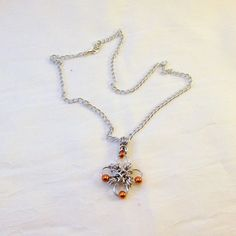 Byzantine Cross Chainmaille Necklace with Copper Beads by ThreePineHill on Etsy