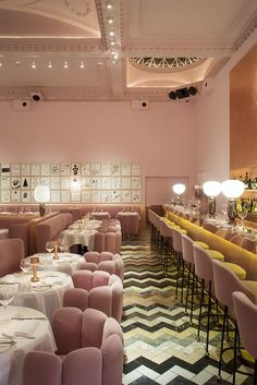 THE GALLERY - Brasserie of the restaurant Sketch in London - Project by India Mahdavi & Artist David Shrigley - Amazing Homes Interior Cafe Restaurant, Restaurant Design, Sketch Restaurant, Luxury Restaurant, Best Interior, Home Interior, Interior Architecture, Interior And Exterior, Design Retro