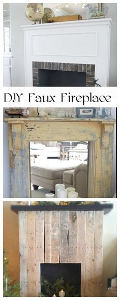DIY Faux Fireplace • How to make a fireplace when you have none!