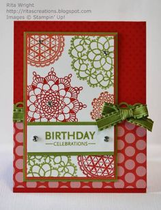 Parade of Doilies by kyann22 - Cards and Paper Crafts at Splitcoaststampers
