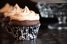 Chocolate Coffee Cupcakes with Bailey pudding filling and Kahlua Frosting