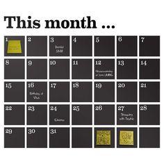 ferm LIVING Calendar Chalkboard Wall Decal & Reviews | Wayfair