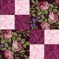 RJR Giselle Mauve Pink Burgundy Violet Floral Rose Pre Cut Quilt Kit Fabric   eBay