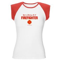 Very cool tee for female firefighters. I am a former firefighter and the former Public Information Officer (PIO) handling Public Relations, media relations, and fundraising for Big Thompson Canyon Fire Rescue, near Estes Park, Colorado.