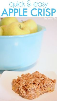 Quick & Easy Apple Crisp.  This blogger suggest using the following types of apples:  Golden Delicious, Honey Crisp or Cortland.