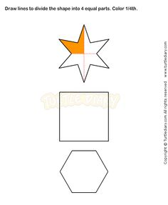 Into Equal Parts Worksheets In Addition Fractions Worksheets Grade ...