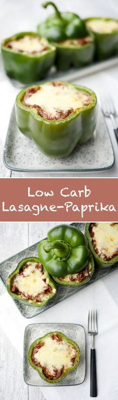 Filled lasagna peppers - a quick and easy low carb recipe- Gefüllte Lasagne-Paprika – ein schnelles und einfaches Low Carb Rezept Recipe for filled lasagna peppers – a quick … - Low Carb Recipes, Vegetarian Recipes, Healthy Recipes, Quick Recipes, Low Carb Lasagna, Keto Snacks, Salmon Recipes, Food Porn, Easy Meals