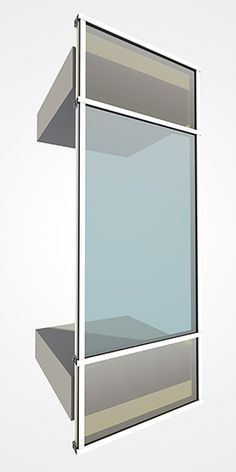 Visualisation of a special window incorporating solar panels within the glass Rendering Techniques, Technical Illustration, Container Buildings, 3d Visualization, Solar Panels, Windows, Glass, Design, Home Decor