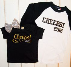 New Years Eve Shirt Raglan boys boys or men Cheers 2016, $25.00 www sparklebowtique.com Use code PIN for 15% off
