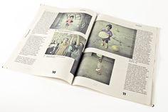 Tealer Newspaper by Margarida Borges, via Behance