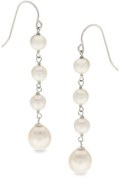 0a883c0a021e Zales Baroque and Oval Cultured Freshwater Pearl Drop Earrings in Sterling  Silver