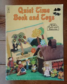 Vintage Quiet Time Book and Toys Pattern Book with Full Size Patterns/ Fabric Jungle Book for Learning, Doll House & Accessories by RedWickerBasket on Etsy