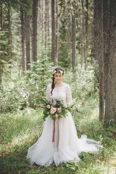 Bohemian Rustic Mountain Wedding  ~ Calgary Bride ~ Corrina Walker Photography