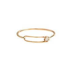 Yellow Gold Diamond Oblong Ring, Sarah & Sebastian $480
