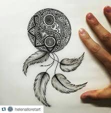 Risultati immagini per modelos de tatuagens filtro dos sonhos ornamentais