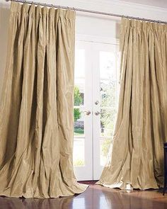 Solid Silk Drapes in Ginger