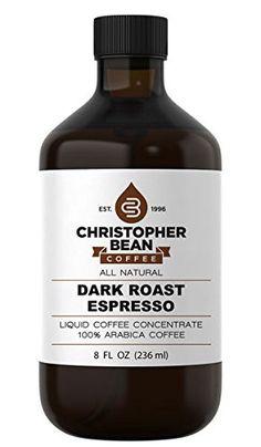Dark Roast Espresso Cold Brew Or Hot Liquid Coffee Concentrate 8 Ounce Bottle