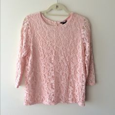 ❗️SALE❗️Forever21 Blush Lace Top NWT - super cute and classy. Fits very well! Forever 21 Tops Blouses