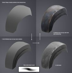 Drawing Unique Handpainted metal tutorial by Min Zhou Digital Painting Tutorials, Digital Art Tutorial, Art Tutorials, Digital Paintings, Painting Process, Process Art, Drawing Process, Sketch Painting, Paint Photoshop