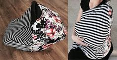 Stretchy carseat/nursing cover free tutorial!     You've all seen these awesome covers by now. They're amazing. And they're so easy and i...