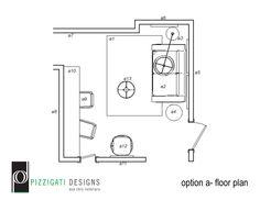 Eco Friendly Interior Design- Option A- Boys Playroom Floor Plan... #interiordesign #ecofriendly #boysroom #playroom #NYC www.pizzigatidesigns.com
