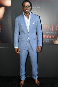 @LanceGross repped for the fellas in all-blue #MensFashion