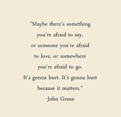 It's going to hurt because it matters