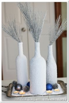 Today, I'm back with an easy and beautiful wine bottle craftfor you. You may have seen my post about the Winter Centerpiece I made from wine bottles and Epsom salt, if you haven't you can click over and take a look. It's OK, I'll wait here for you. :-) In this post I'm going to show you how to put…