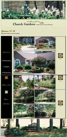 Church Gardens of the Carolina Piedmont: Another page from the former website, re-assembled Maine, Landscape, Gardens, Website, Scenery, Outdoor Gardens, Corner Landscaping, Garden, House Gardens