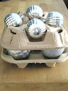 Beau Recycled Ornament Storage   Now You Know What To Do With Drink Trays From  Fast Food