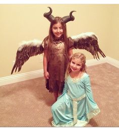 My daughter's Savannah and McKayla as Young Maleficent and Aurora costume....