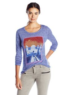 Lucky Brand Women's Taj Mahal T-Shirt >>> Find out more details by clicking the image : Fashion