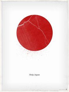 """""""Help Japan""""  震災ポスター"""